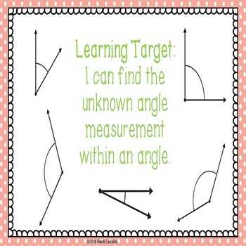 Finding Unknown Angle Measures PowerPoint Presentation 4.MD.7