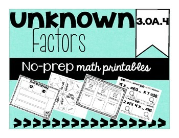 Unknown Factor {3.OA.4}