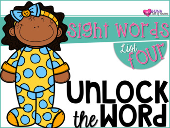 Unlock The Sight Words {List Four}