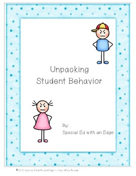 Unpacking Student Behavior