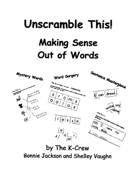 Unscramble This- Making Sense Out of Words