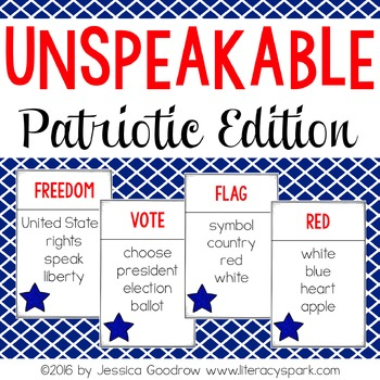 Unspeakable Patriotic Vocabulary Game
