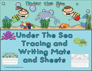 Under the Sea Letter Tracing and Writing Mats and Sheets (