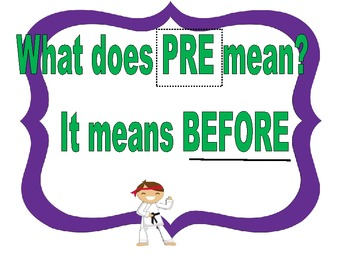 Unveiling what prefixes mean with posters