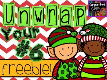 Unwrap your FREEBIE Number 6 {Creative Clips Digital Clipart}