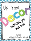 Up-Front Decor {With Bright Chevron}