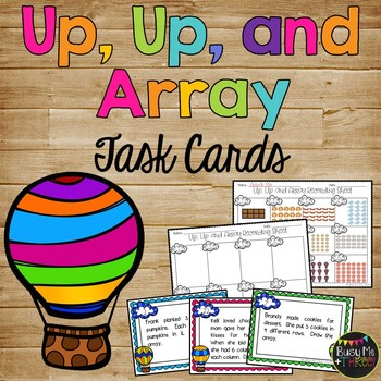 Up, Up, and Array Task Cards Game for Second Grade, Math C