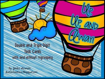 Up, Up, and Away! Addition and Subtraction Task Cards (dou
