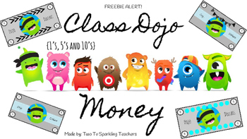 Updated Class Dojo Money Freebie (Dollars)