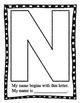 "Upper Case Initial Letter  'My name is"" Posters ~ No Prep"