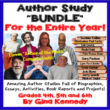 """""""Author of the Month"""" Year-Long Program, Eleven Author Studies!"""