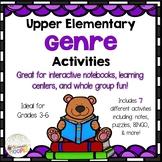 Upper Elementary Genre Activities: Grades 3-5