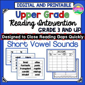 Phonics Intervention for Upper Elementary Grades-Short Vow
