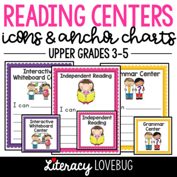 Literacy Center Icons and Anchor Charts: Upper Grades
