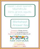Upper Level / Native Speaker Spanish Word Type Fluency Mad