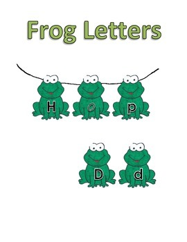 Upper/Lowercase Letters - Frogs