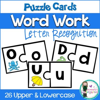 Puzzle Game: Upper & Lowercase Match. Game or Word Work. C