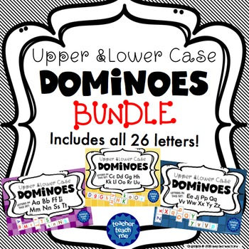 Upper and Lower Case Dominoes - Letters A to Z