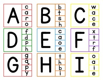 Upper and Lowercase Clip Cards