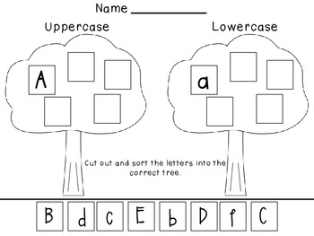 Upper and Lowercase Sort A-F