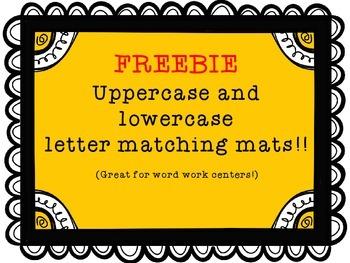 Upper and lower case matching mats!  FREEBIE