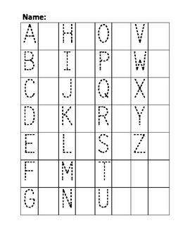 Upper and lowercase trace and write