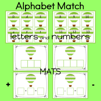 Alphabet Match Up Game   Alphabet Cards   Numbers 0-20 included