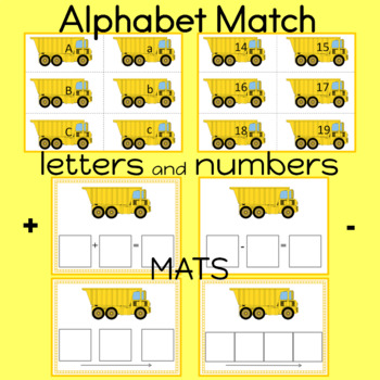 Upper and Lower Case Alphabet Match   Numbers 0-20 included