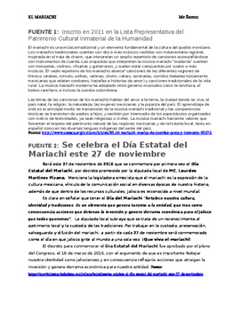 Upper level Spanish reading with comprehension questions:
