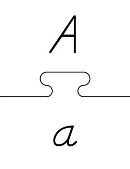 Upper/Lower Alphabet Match Puzzle