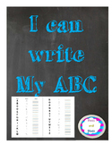 Uppercase ABC tracing and writing