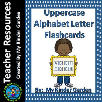 Uppercase Alphabet Letter Flashcards Blue Dot