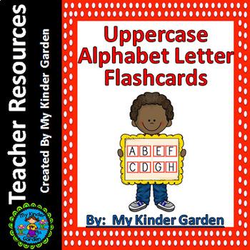 Uppercase Alphabet Letter Flashcards Red Dot