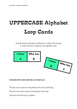 Uppercase Alphabet Loop Cards