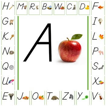 Uppercase Letter with Picture A-Z