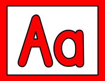 Alphabet Posters Word Wall Bulletin Board Set {FREE}