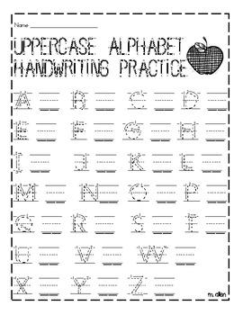 uppercase and lowercase handwriting practice sheet by miranda allen teachers pay teachers. Black Bedroom Furniture Sets. Home Design Ideas