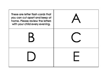 Uppercase and Lowercase Letter Sight Words