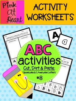ABC Activities 8: Cut, Sort and Paste - Uppercase and Lowe