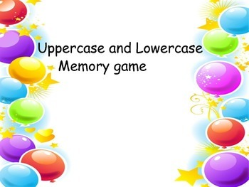 Uppercase and Lowercase       Memory game