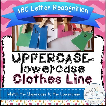 ABC Matching Game Clothes Line Uppercase to lowercase Alph