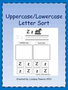 Uppercase/Lowercase Letter Sort