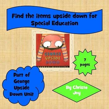 Upside Down Preposition Worksheet for Special Education
