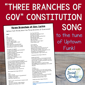 Uptown Funk Constitution Song: Three Branches of Gov
