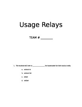 Usage Relays