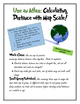 Use An Atlas: Calculating Distance with Map Scale