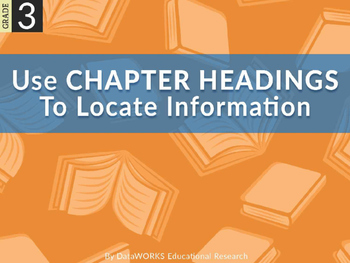 Use Chapter Headings To Locate Information