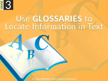 Use Glossaries to Locate Information in Text