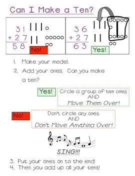 Use Models to Add Bigger Numbers- Two Digit Plus One Digit