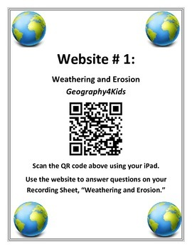 Use QR Codes with Earth's Landforms